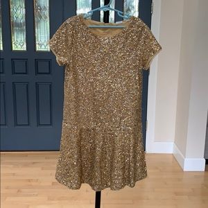 Holiday ready! Gap Girls' sz 10 gold sequin dress